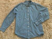 Vineyard Vines Mens Slim Fit Whale Shirt Medium M Plaid Button Down Green Blue