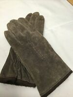 NEW Vintage Fownes  Brown Suede Lined Womens Medium Driving Gloves WPL 9522