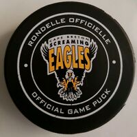 CAPE BRETON SCREAMING EAGLES LHJMQ RARE OFFICIAL GAME PUCK JUNIOR QUEBEC LEAGUE