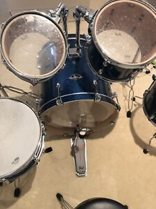 pearl export drum kit, cymbals and accessories