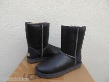 UGG CLASSIC PEACOAT WATER-RESISTANT LEATHER/ SHEEPSKIN BOOTS, US 8/ EUR 39 ~NEW