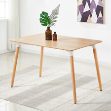 Halo Dining Table Rustic Wooden Retro Design DA DS Beech Wood Legs Office Large