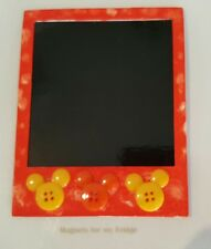 MAGNETIC INSTANT PHOTO FRAME MAGNET w MOUSE EARS FEATURE 8.7cm x 11cm - M272