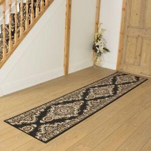 runrug Carpet Runner Rug Hallway - Width 70cm x 135cm Long - Turkesh Black