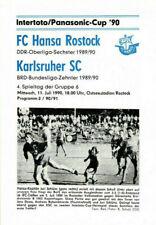 IFC 11.07.1990 FC Hansa Rostock - Karlsruher SC, InterToto Cup