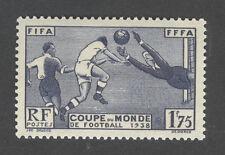 Timbre neuf sans charnière - N°396 Coupe du monde de football - 1938 - TB