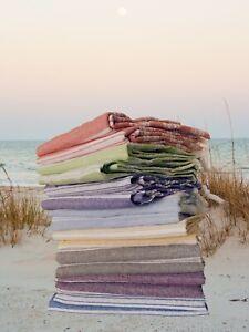 Turkish Peshtemal Bath Hamam Towel Beach Gym Yoga Light-weight Cotton Fabric