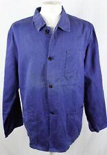 Vintage French Workwear JACKET  Blue   Size L