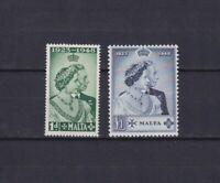 MALTA 1949, SG#249-250, £38, MNH/MLH