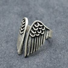 Vintage Feather Wing Rings Antique Silver Signet Women Punk Jewelry Women Gift