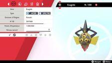 Pokemon EXAGIDE shiny 6IV + masterball - Battle Ready - Epée/Bouclier