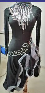 S138 Hot sale latin Dance Dress Bust 74cm Waist 60cm  Hip 77cm Length 82cm