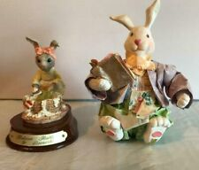 Easter Rabbit Washing Clothes And Paper Mache Rabbit Reading Book