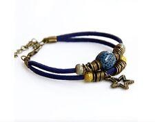 Women's Vintage Wind Ceramic Bangle Charm Bracelet Jewellery
