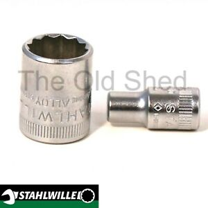 "Stahlwille 1/4"" dr. 12point socket replacement sockets Metric - select size"