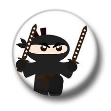 Ninja 1 Inch / 25mm Pin Button Badge Martial Arts Karate Kickboxing Cute Cartoon