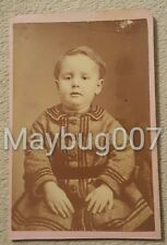 Vintage Antique CDV photograph young boy child Carthage, Missouri