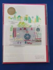 NEW 2016 SEATTLE Limited Christmas Holiday Starbucks Greeting Gift Card w/$0 bal