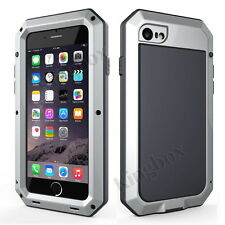 Aluminum Metal Bumper Gorilla Tempered Glass Case for iPhone 4 5 6 7 8 Plus X for Samsung Galaxy S5 Silver Yes