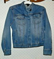 The Limited Women Long Sleeve Snap Buttons Jean Denim Jacket Size XS mm