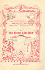 Trust Colonial SA, accion de capital, 1899 (Siege: Bruxelles)