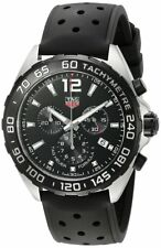Tag Heuer Formula 1 Perforated Rubber Tachymeter Men's Watch CAZ1010.FT8024