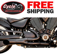 Trask Black 2 into 1 Hot Rod Exhaust System - TM-3033BK For Victory