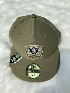 New Era Las Vegas Raiders Salute to Service Hat Cap 59Fifty Fitted 7 3/8 Oakland