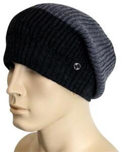 NEW Gucci Wool Beanie Hat w/Interclocking G w/Tag Gray/Black 310777 1262
