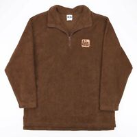 Vintage CITYSCAPE  Brown 90s 1/4 Zip Jumper Mens L