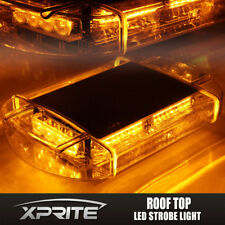 Xprite 40 LED Roof Top Emergency Hazard Warning Flash Strobe Light Amber