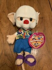 """Brain Plush Doll Animaniacs Pinky And The Brain Hawaiian 10"""" With Tag complete"""