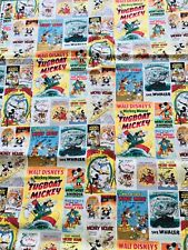Walt Disney Mickey Mouse Posters fabric Tugboat retro comic/cartoon fq/metre