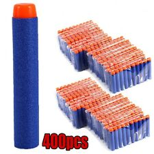 400pcs Bullet Darts For NERF Kids Toy Gun N-Strike Round Head Blasters #S Blue