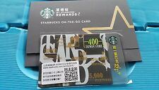 """Starbucks Gift Card Taiwan On-The-Go Card 2017 """" Celebration of 400th stores """""""