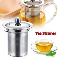 Infuser Mesh Coffee Fine Tea Strainer Lid Stainless Steel Filters