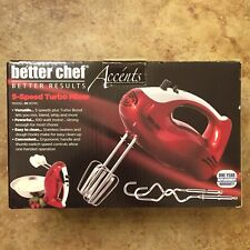 Kitchen Chef Electric Turbo Hand Mixer 5-Speed Model IM-817RC Red Tested Works