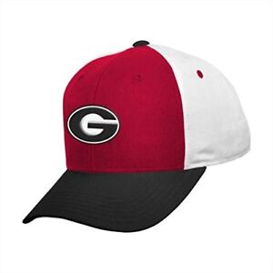 GEORGIA UNIVERSITY BULLDOGS NCAA YOUTH COLOR BLOCK CAP NWT FREE SHIPPING