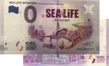 Sea Life München 2019-1 Souvenirschein Null Euro| € 0 Euro Schein Billet