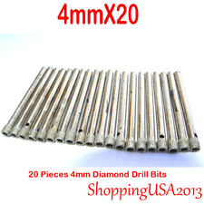 20 Pc 4mm Diamond Tool Drill Bits Set Hole Saw Cutter Glass Marble Ceramic Tile
