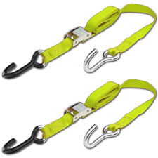 Progrip Powersports Motorcycle Tie Down Straps Lab Tested (2 Pack) Yellow