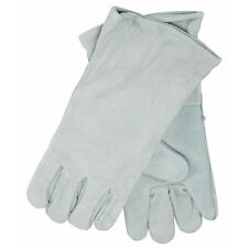 """Grey Leather 14"""" Welding Gloves"""