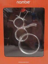 Nambe Signature Alloy Snowman Holiday Ornament New in Box Designer Alvaro Uribe