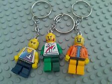 10 x NEW LEGO MINIFIGURE KEYRINGS - KIDS PARTY BAG STOCKING FILLERS FAVOURS -