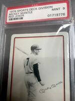 1978 Sports Deck Division Mickey Mantle Red Joker Psa 9