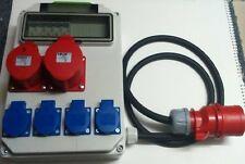 Stromverteiler,Adapter 32A auf CEE 1x32,1x16A,4x Schuko 230V