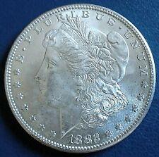More details for usa 1882 morgan dollar, s mintmark = san francisco mint,  900 silver