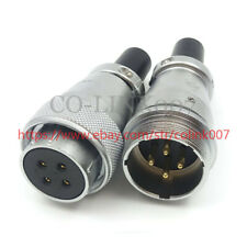WS28 4Pin Power Connector,High Voltage Aviation Solder Connector LED Plug Socket