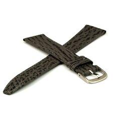Echt Haifisch Lederuhrband grau 18 mm Dornschließe silber Ersatzband Uhrbänder