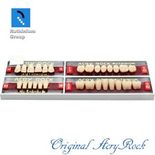4pcs Set Acrylic Dental Lab Teeth Ruthinium Acryrock Teeth A3 Size 15 Full Mouth